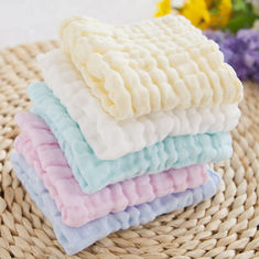 Anti Bacterial Pure Muslin Face Washcloths Towel Baby Wipes Solid Color